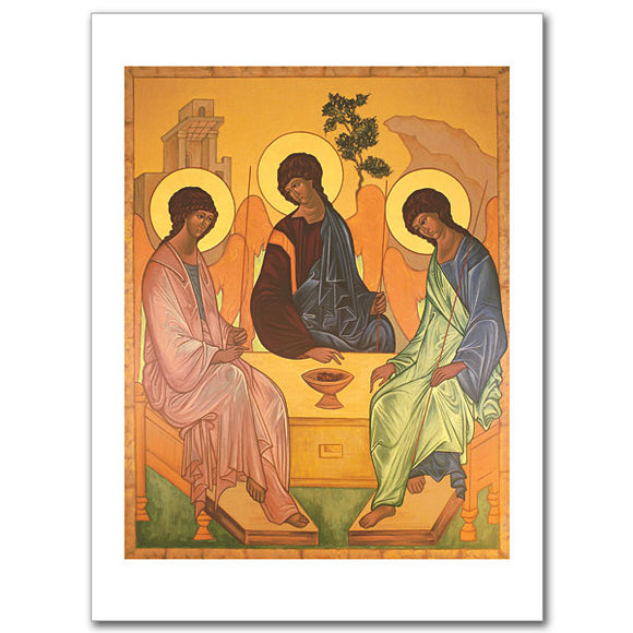 Blank Greeting Card - Old Testament Trinity
