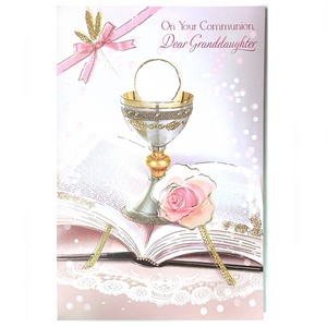 First Communion Granddaughter Card