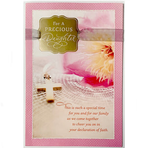 For A Precious Daughter Confirmation Card