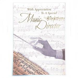 With Appreciation to a Special Music Director