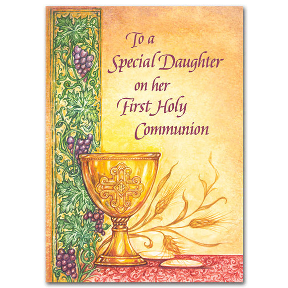 To a Special Daughter on Her First Holy Communion Card