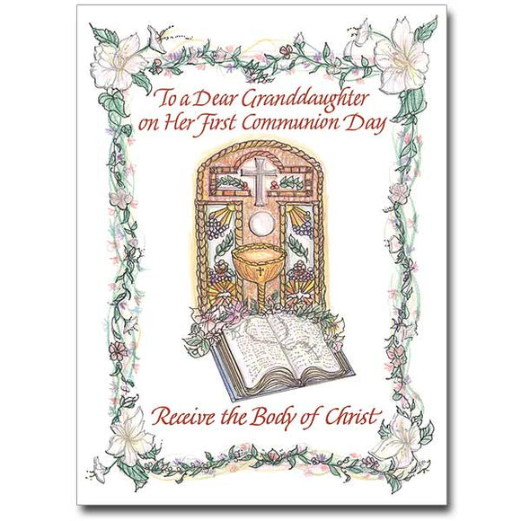 To a Dear Granddaughter First Communion Card