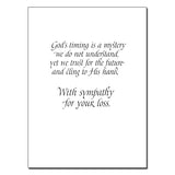In God's Hand… Sympathy Card