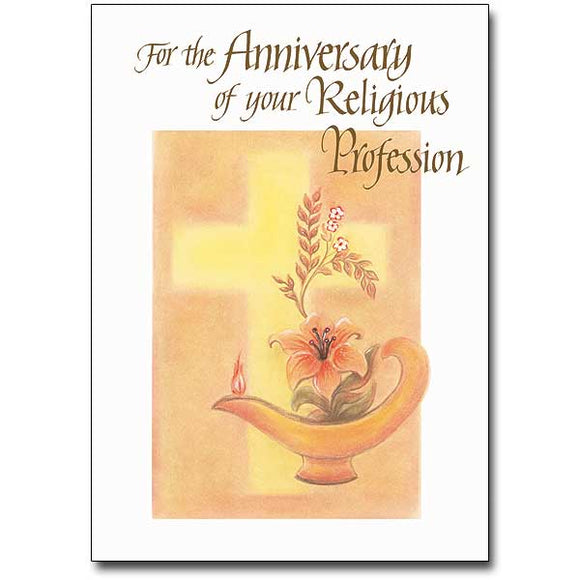 For the Anniversary of Your Religious Profession Card