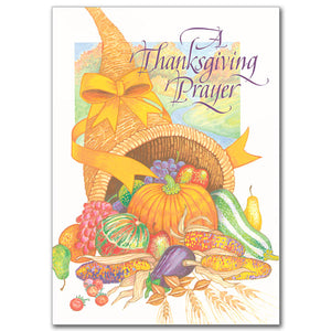 A Thanksgiving Prayer Card