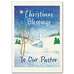 Christmas Blessings Pastor Card