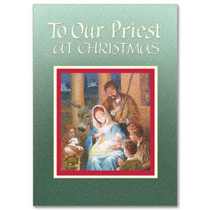 To Our Priest at Christmas Card