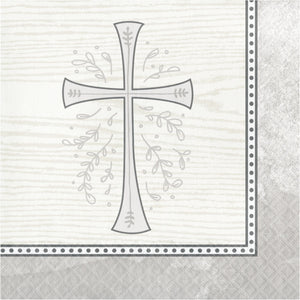 Silver Cross Beverage Napkins