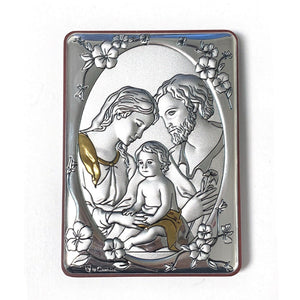 Silver & Gold Holy Family Plaque