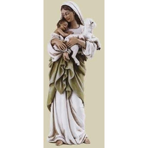 "4"" Madonna and Child with Lamb"