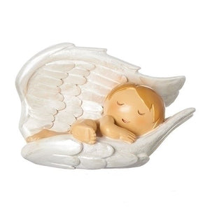 Baby in Angel Wings Statue