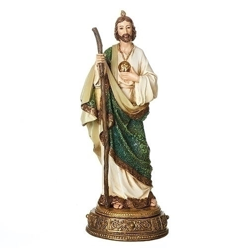 Saint Jude Statue with Prayer Scroll