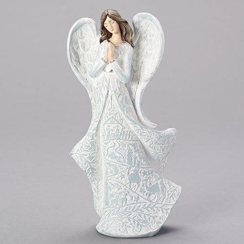 Praying Angel with Nativity Scene