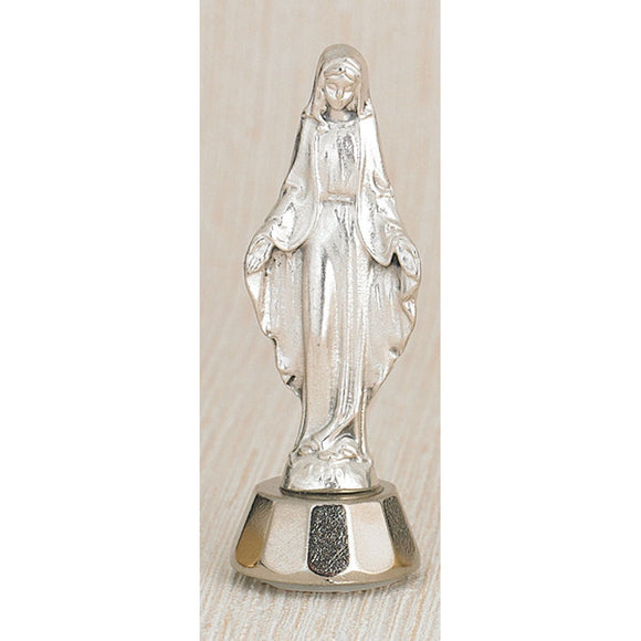 Our Lady of Grace Silver Adhesive Statue
