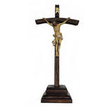 Agony of Christ Crucifix with Stand 15""