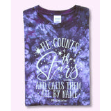 He Counts the Stars Tie-Dyed T-Shirt