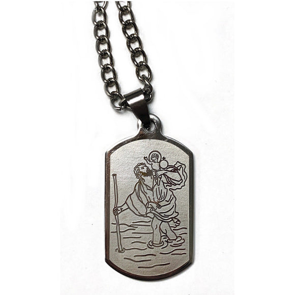 St. Christopher Dog Tag Necklace & Prayercard