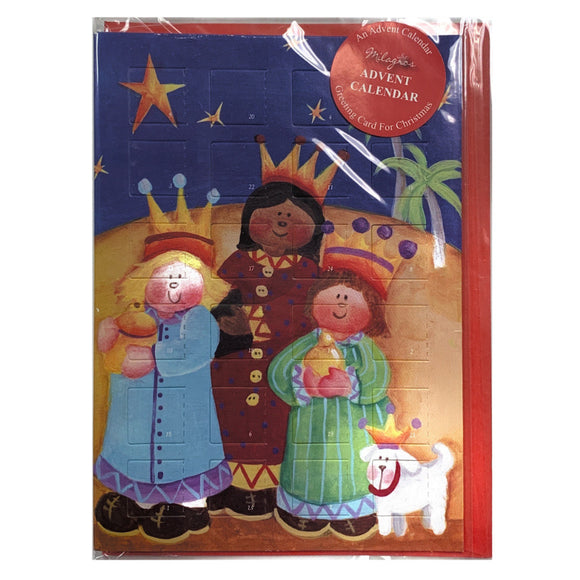 Three Kings Advent Calendar Card