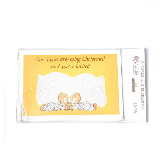 Twin Christening Invitations