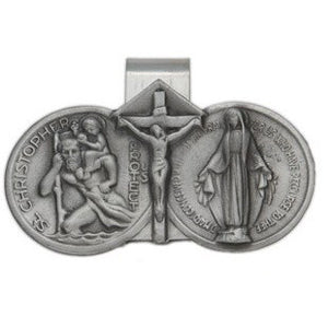 St. Christopher & Our Lady of the Highway Visor Clip