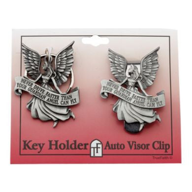 Guardian Angel Visor Clip & Keychain