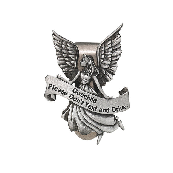 Godchild Never Text and Drive Guardian Angel Visor Clip