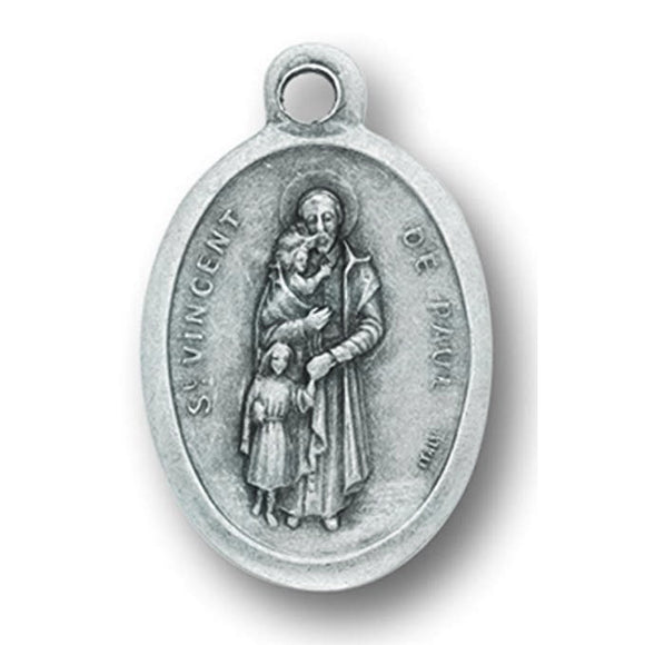 St. Vincent de Paul Oxidized Medal