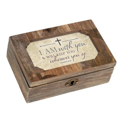 With You Wherever You Go Wood Music Box
