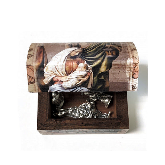 Metal Nativity with Box