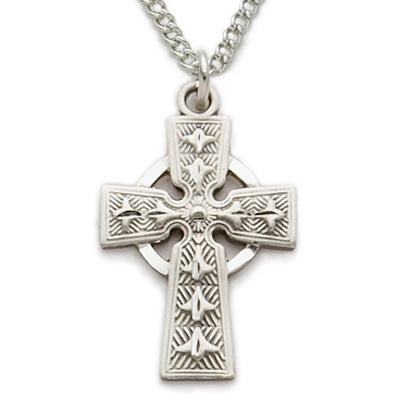 Large Silver Celtic Cross