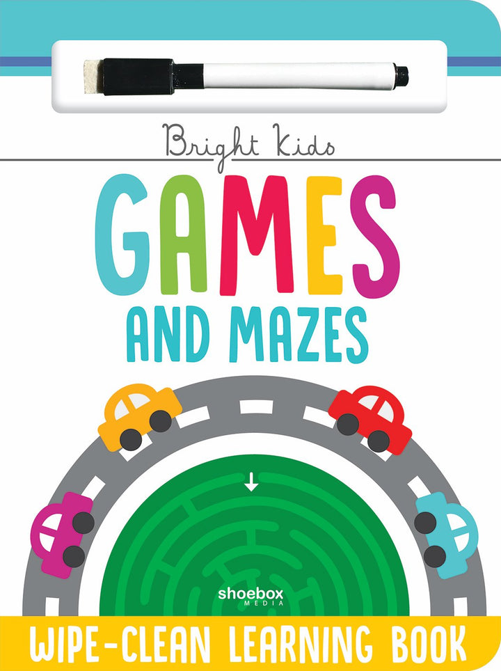 Games & Mazes Wipe-clean Book