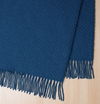 Weave St Ives Wool Throw - Royal Blue