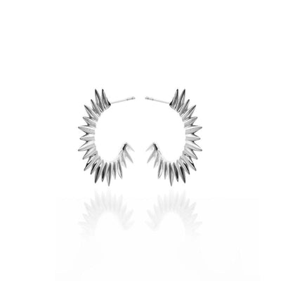 Silk & Steel Radiance Earrings - Silver