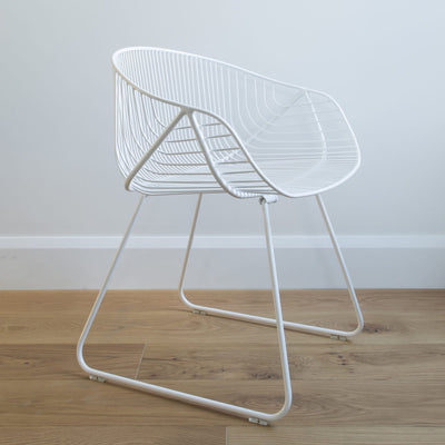 ico trader portobello, chair, wire, furniture, white