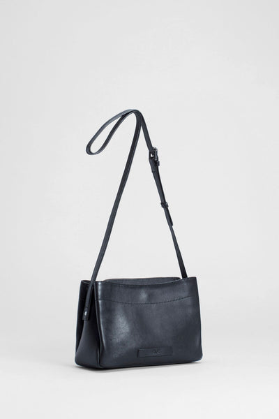 Elk Indal Small Bag - black leather handbag