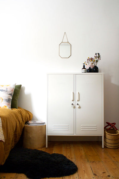 MUSTARD MADE MIDI LOCKER, DOUBLE DOOR, white