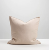 Thread Design Linen Cushion 50cm x 50cm - Blush