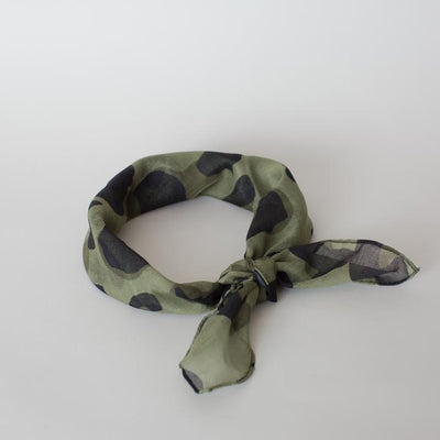 SOPHIE Mini Scarf - Wild Olive, green, neck and hair scarf