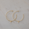 SOPHIE Mini Pearl Hoops - Gold