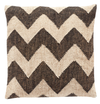 Hubsch Black/Beige Kelim Cushion w/Feather Inner