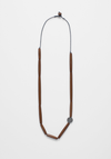 Elk Lanna Long Bead Necklace - Brown/Gunmetal