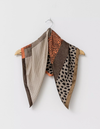 Stella & Gemma Square Pleated Scarf - Safari Mix/Rust