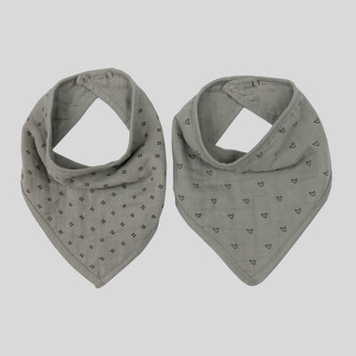 Burrow & Be Bandana & Bib Set - Grey