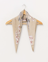 Stella and Gemma Pleat Neck Scarf - Botanical Beige