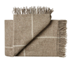 Weave Ranfurly Wool Throw Blanket - Oak