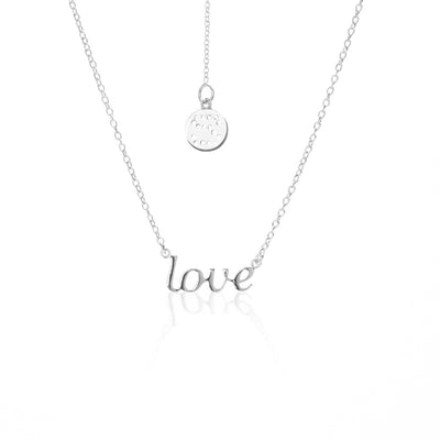 Silk & Steel Superfine Love Necklace - Silver