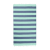 Hammamas Towel - mint navy, Turkish Cotton