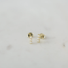 Sophie Pearl Bar Studs - Gold