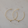 SOPHIE Mini Rock Hoops - Gold/Black