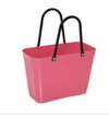 Hinza 'Green Plastic' (Sugar Cane) Bag Large - Tropical Pink